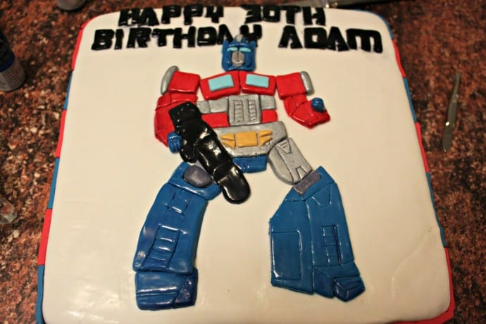 Super Optimus Prime Birthday Cake Sweetly Baked Perth Personalised Birthday Cards Paralily Jamesorg