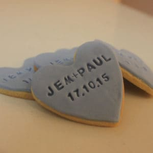 Wedding Heart Stamped Cookies Sweetly Baked Perth