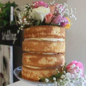 Simple Naked Cake Wedding Birthday Celebration Sweetly Baked Perth
